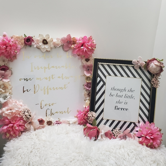 Say Less Design More Other - Hand made Floral Frames